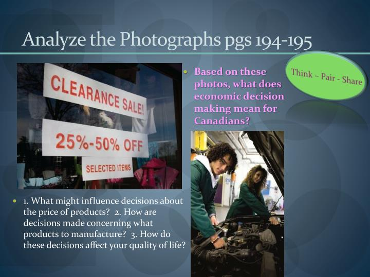 Analyze the Photographs pgs 194-195
