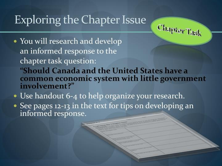 Exploring the Chapter Issue