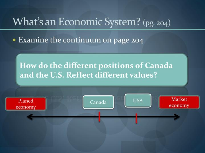What's an Economic System?
