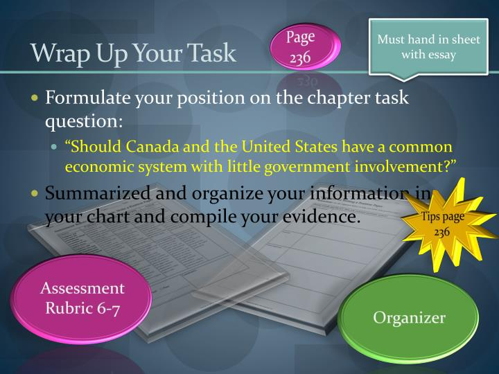 Wrap Up Your Task
