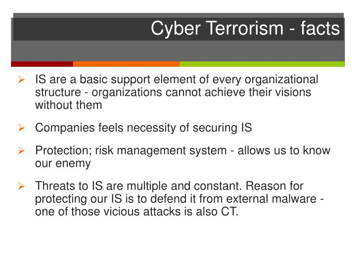 Cyber Terrorism - facts