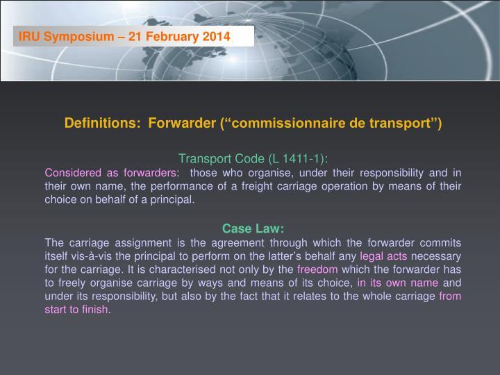 IRU Symposium – 21