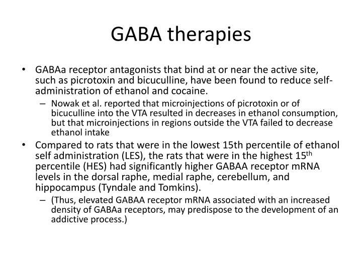 GABA therapies