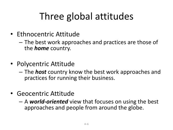 Three global attitudes
