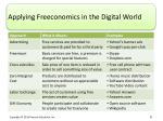 applying freeconomics in the digital world