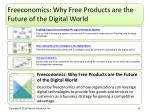 freeconomics why free products are the future of the digital world