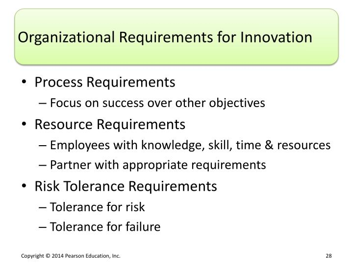 Organizational Requirements for