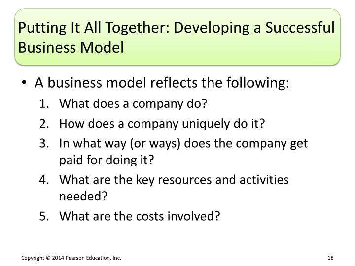 Putting It All Together: Developing a Successful Business Model