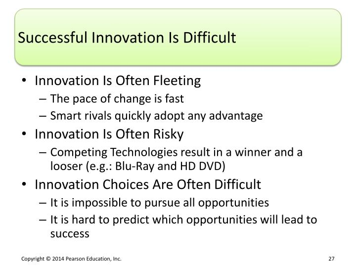 Successful Innovation Is