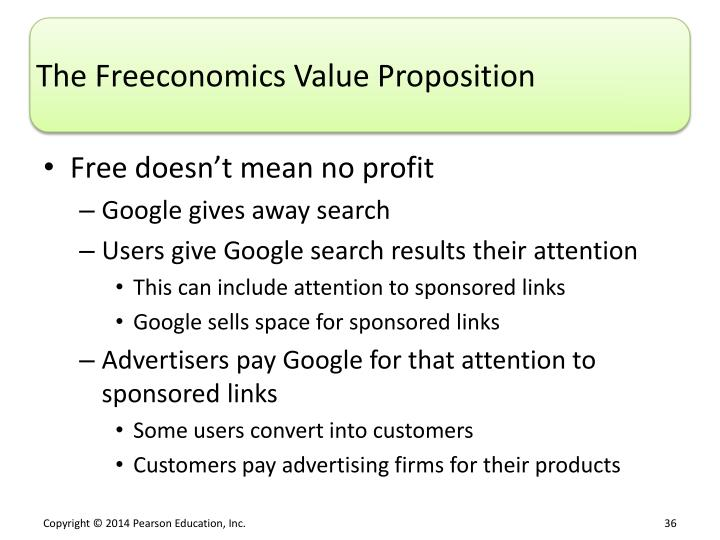The Freeconomics Value Proposition