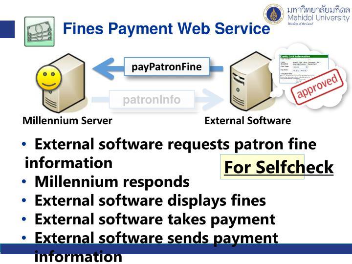 Fines Payment Web Service
