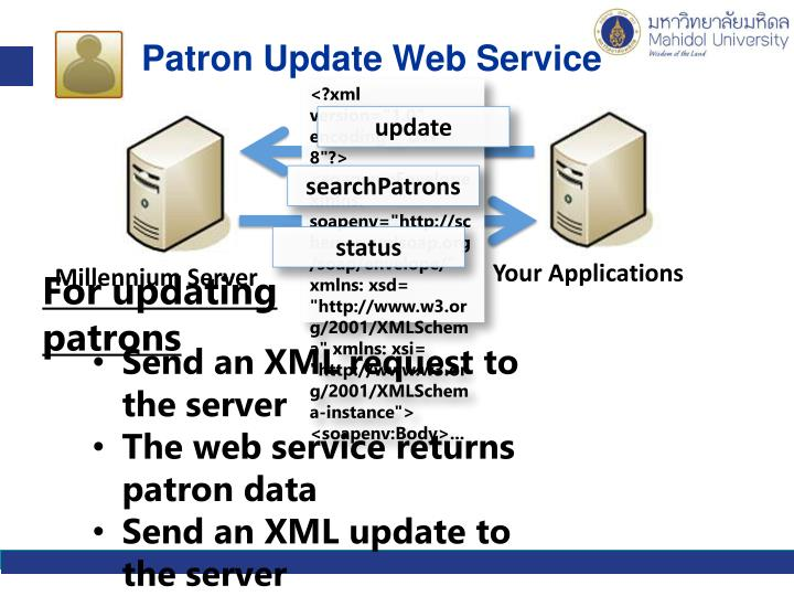 Patron Update Web Service