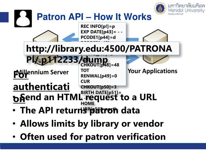 Patron API – How It Works