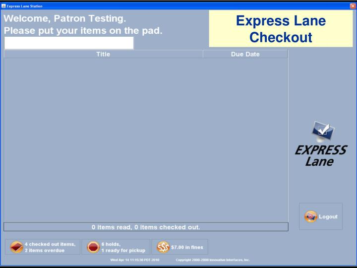Express Lane Checkout
