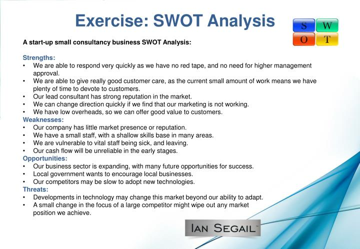 Exercise: SWOT Analysis