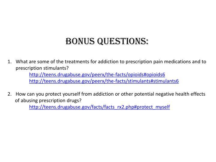 Bonus Questions:
