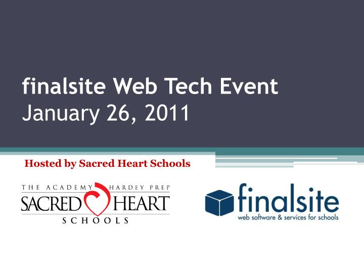 Finalsite web tech event january 26 2011