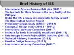 brief history of ibs