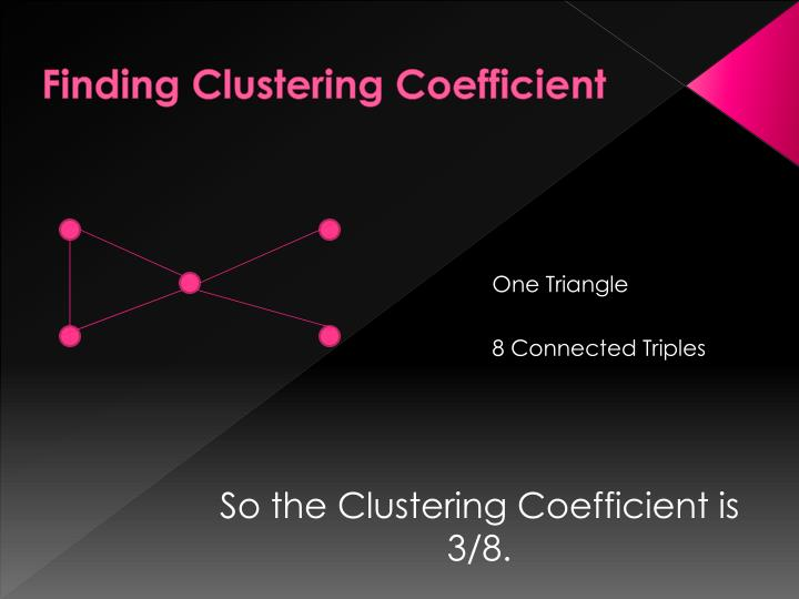 Finding Clustering Coefficient