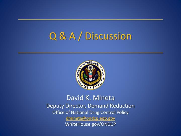 Q & A / Discussion