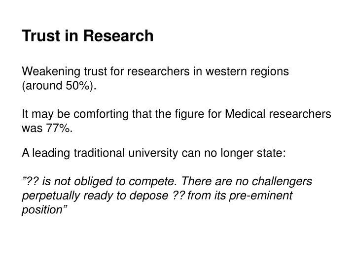 Trust in Research