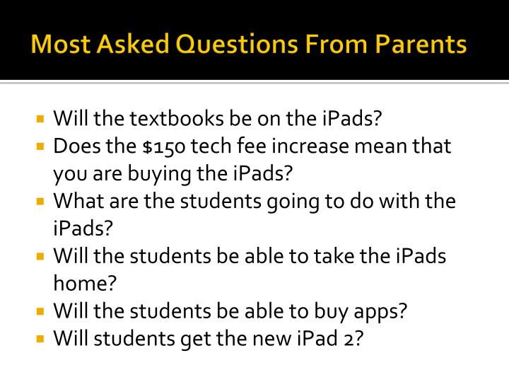 Most Asked Questions From Parents