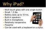 why ipad2