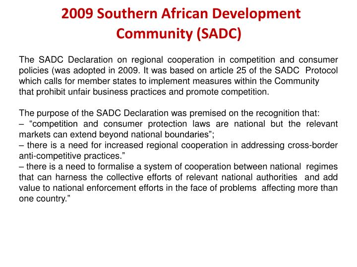 2009 Southern African Development