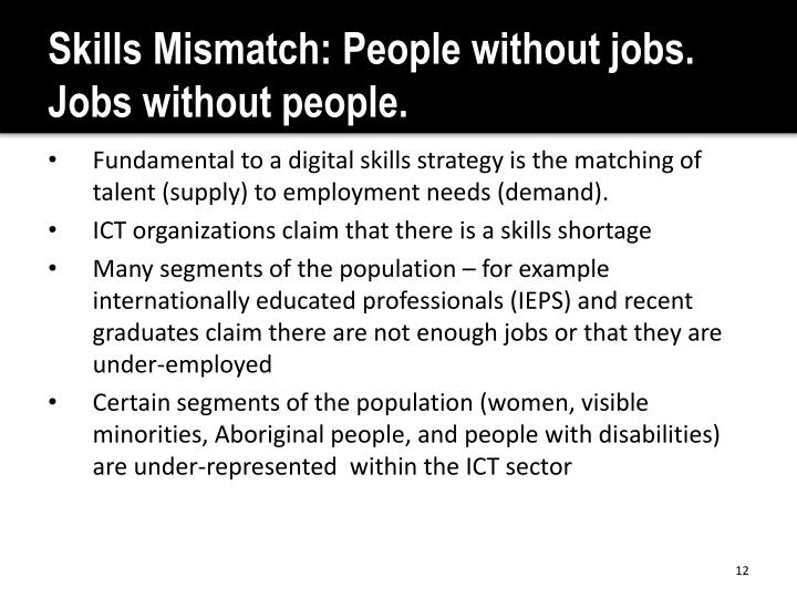 Skills Mismatch: People without jobs. Jobs without people.