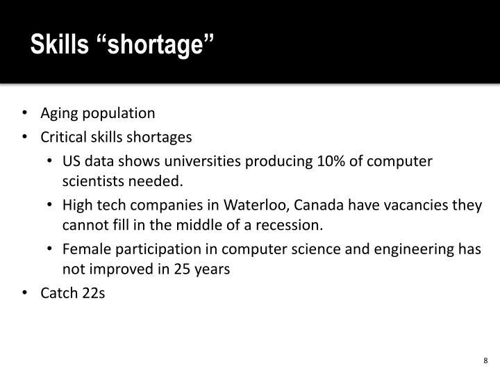"""Skills """"shortage"""""""