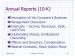 annual reports 10 k