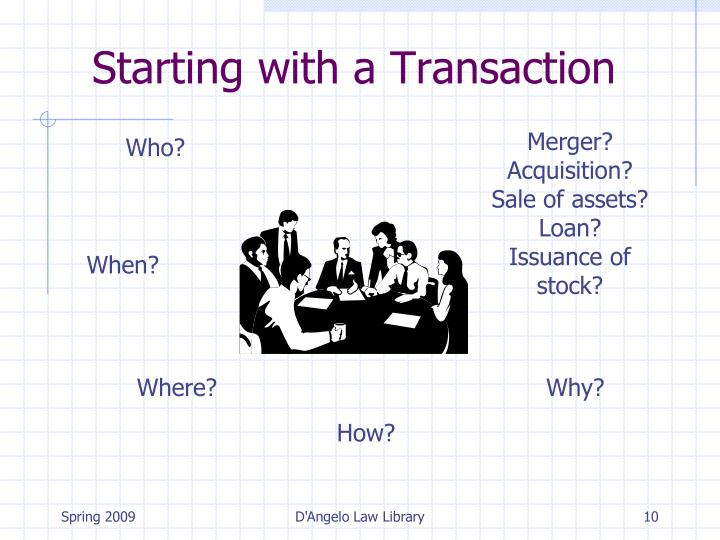 Starting with a Transaction