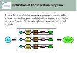 definition of conservation progra m
