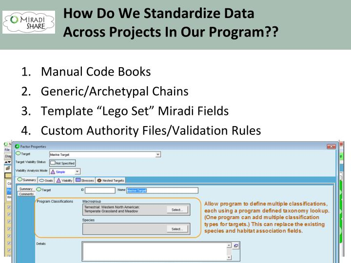 How Do We Standardize Data
