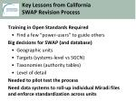 key lessons from california swap revision process