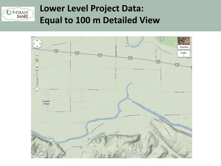 Lower Level Project Data:
