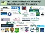 the conservation measures partnership leading conservation organizations