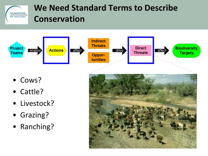 We Need Standard Terms to Describe Conservation