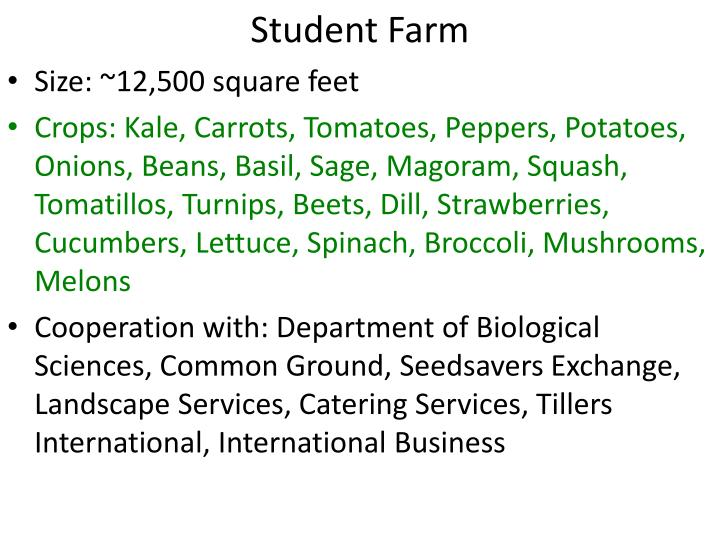 Student Farm