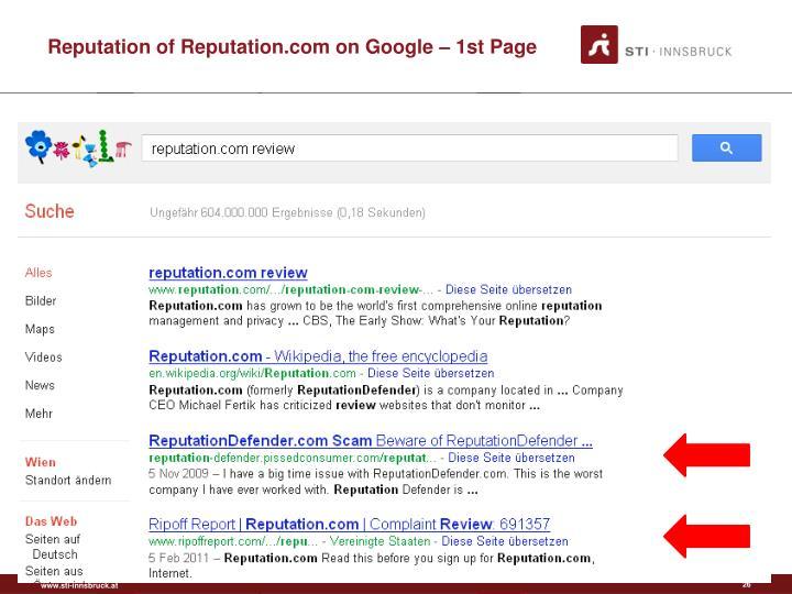 Reputation of Reputation.com