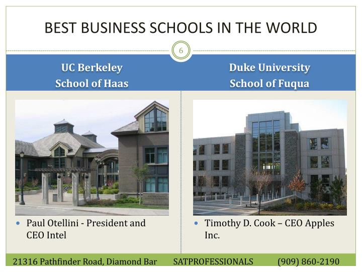 Ppt Best Business Schools In The World Powerpoint