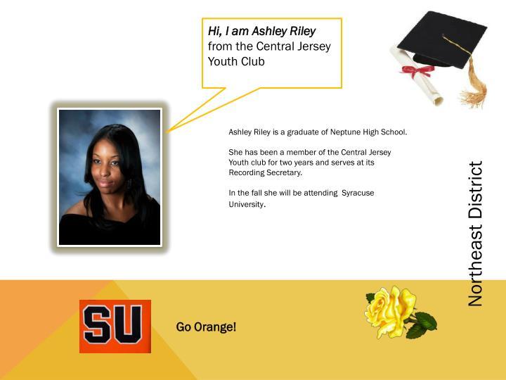 Hi, I am Ashley Riley