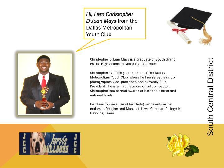 Hi, I am Christopher