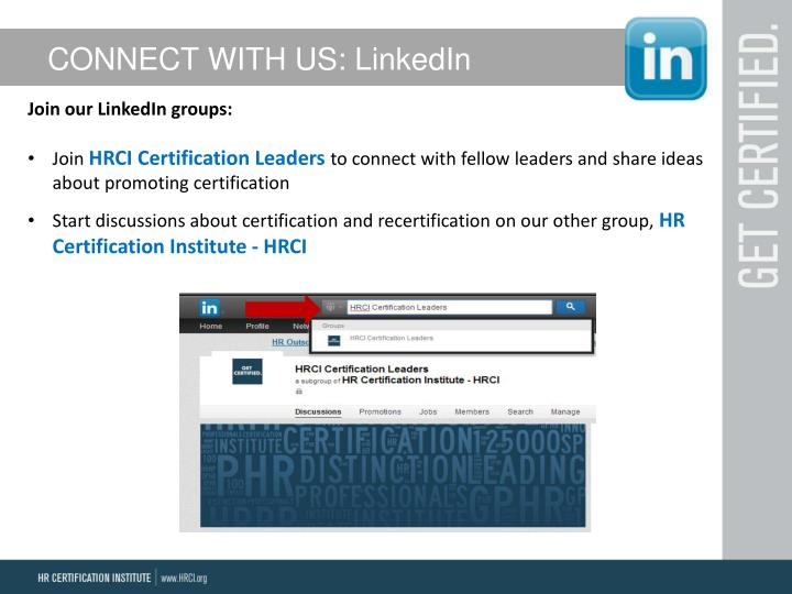 CONNECT WITH US: LinkedIn