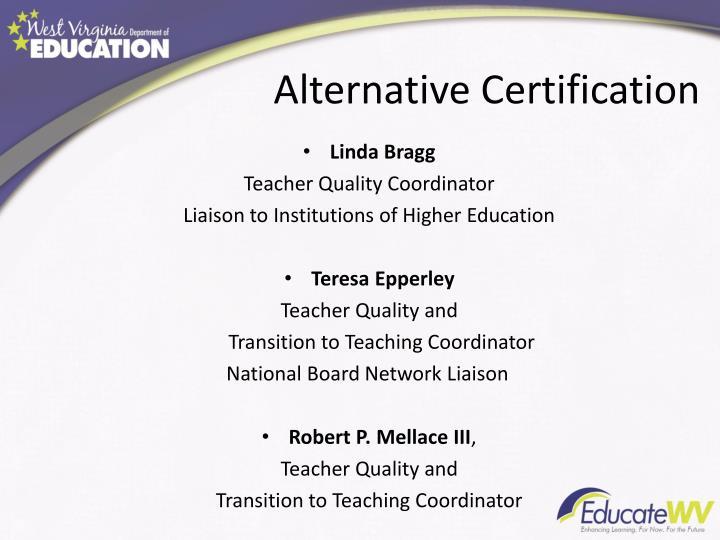 Alternative Certification