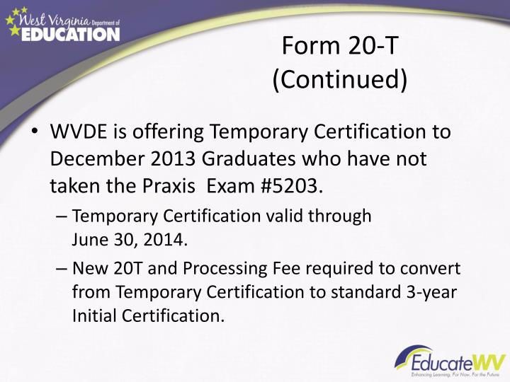 Form 20-T