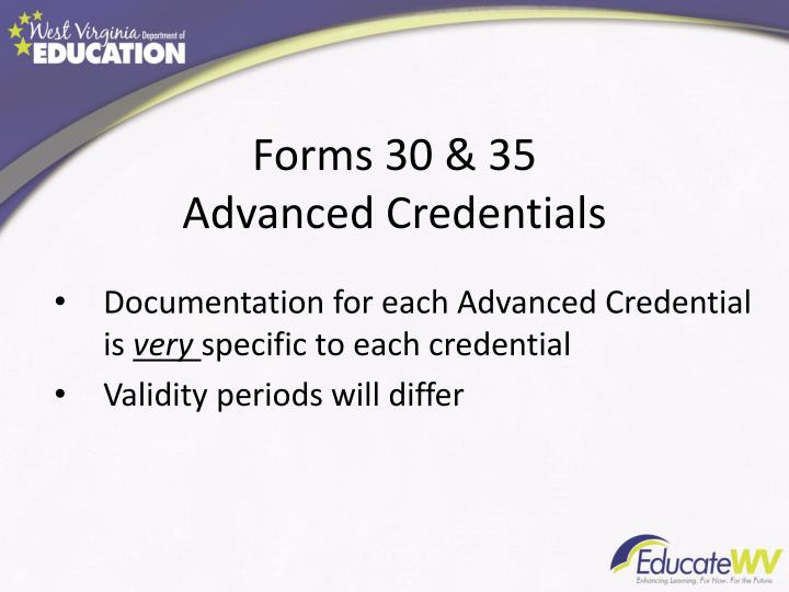 Forms 30 & 35