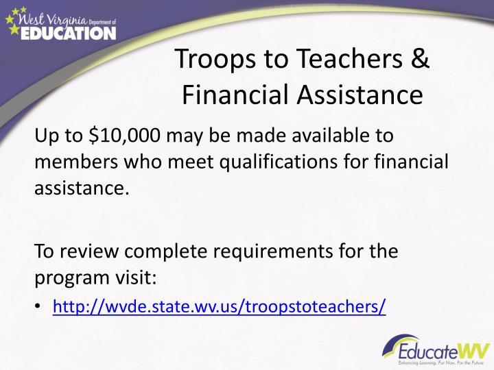 Troops to Teachers &