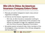 olin life in china an american insurance company enters china