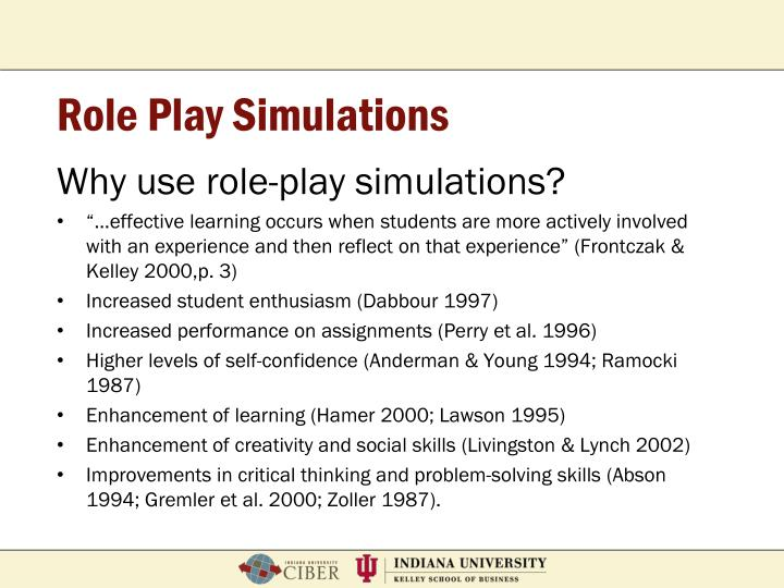 Role Play Simulations